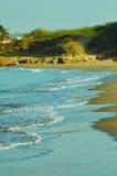 Ondas em uma praia em Jamaica fotos de stock royalty free