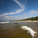 Ondas en el mar Imágenes de archivo libres de regalías