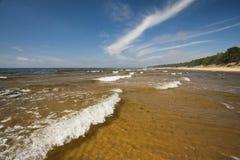 Ondas en el mar Foto de archivo libre de regalías
