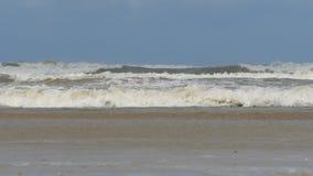Ondas en el mar durante una tormenta almacen de video