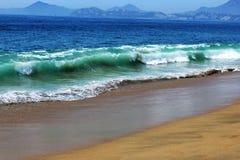 Ondas en la playa de Manzanillo Fotografía de archivo libre de regalías