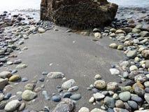 Ondas en la playa de Whitehorn del punto Imagen de archivo