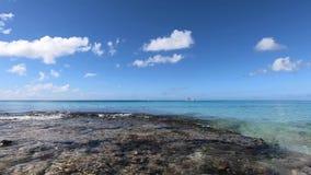 Ondas en la playa tropical Mar del Caribe almacen de metraje de vídeo