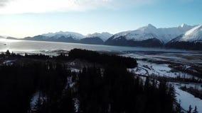 Ondas en las capas de Alaska metrajes