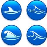 Ondas en los botones Imagen de archivo libre de regalías