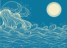 Ondas enormes del mar.