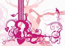 Ondas florais ilustração do vetor