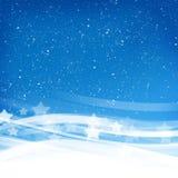 Ondas fumarentos azuis Fotografia de Stock Royalty Free