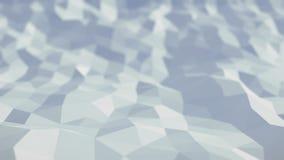 Ondas geométricas do polígono abstrato do fundo ilustração stock