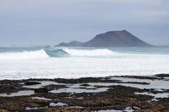 Ondas grandes (inflamación del mar) Foto de archivo libre de regalías