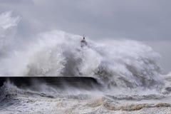 Ondas grandes tormentosos Imagens de Stock Royalty Free