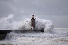 Ondas grandes tormentosos Foto de Stock Royalty Free