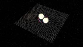 Ondas gravitacionales Imágenes de archivo libres de regalías
