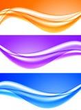 Ondas ligeras suaves abstractas fijadas stock de ilustración