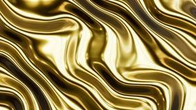 Ondas lisas 3 do ouro Fotos de Stock