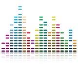 Ondas musicales Fotografía de archivo libre de regalías