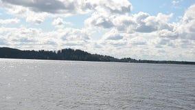 Ondas na água do lago filme