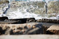 Ondas na costa norte de Egipto Imagem de Stock