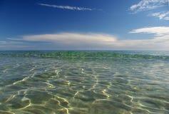 Ondas na praia de S.Margherita Fotos de Stock Royalty Free