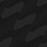 Ondas negras de la diagonal 3d Fotografía de archivo