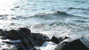 Ondas no litoral video estoque