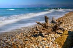 Ondas que batem a praia Imagens de Stock