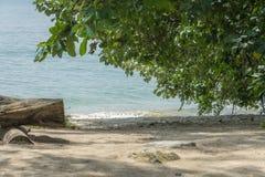 Ondas que golpean la playa fotografía de archivo libre de regalías