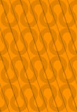 Ondas retras de la naranja del corte diagonal 3D Fotos de archivo libres de regalías