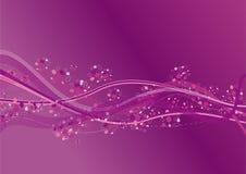 Ondas roxas ilustração royalty free