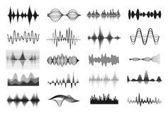 Ondas sadias da música ilustração do vetor