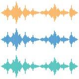 Ondas sadias do vetor Equalizador de Digitas da música Tecnologia audio Fotos de Stock Royalty Free