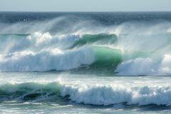 Ondas tempestuosas Fotos de archivo