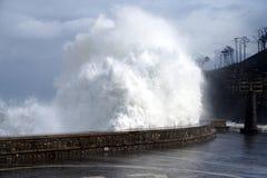 Ondas temporais do perigo que deixam de funcionar na Espanha Imagens de Stock