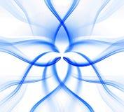 Ondas torcidas azuis. Ilustração Royalty Free