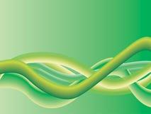 Ondas verdes ilustração royalty free