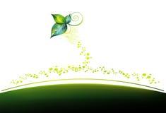 Ondas verdes Foto de Stock Royalty Free