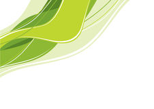 Ondas verdes abstratas Imagens de Stock Royalty Free