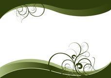 Ondas verdes con motivos naturales verdes libre illustration