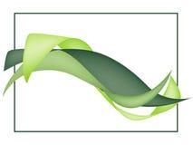 Ondas verdes do sumário ilustração stock