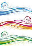 Ondas y burbujas coloreadas Fotos de archivo
