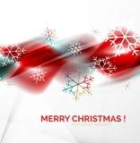 Ondas y copos de nieve borrosos la Navidad roja Imagen de archivo libre de regalías