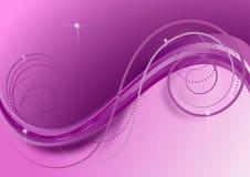 Ondas y espirales en el fondo violeta Imágenes de archivo libres de regalías