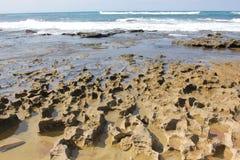 Ondas y playa Fotografía de archivo