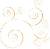 Onde arancioni circlular decorative astratte di vettore Fotografie Stock Libere da Diritti