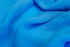 Onde astratte dell'azzurro della tessile Immagini Stock