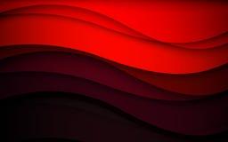 Onde astratte di rosso - concetto del flusso di dati Illustrazione di vettore Fotografia Stock Libera da Diritti