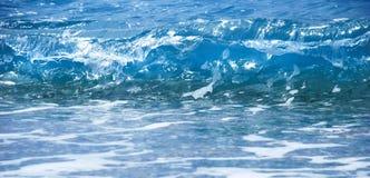 Onde bleue de mer Image libre de droits