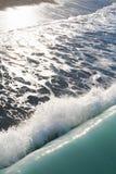 onde bleue de mer image stock