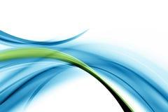 Onde bleue et verte illustration de vecteur