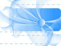 Onde blu Fotografia Stock